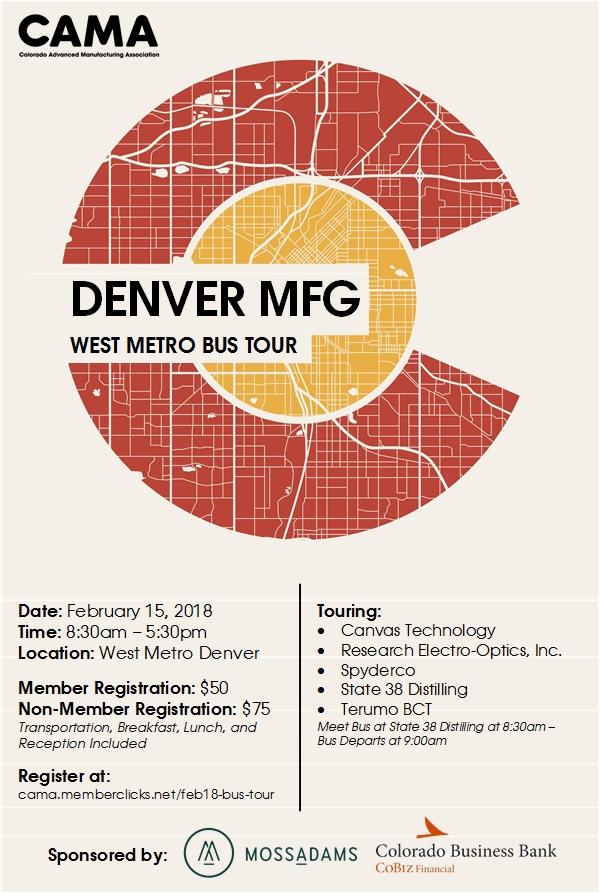 Denver MFG West Metro Bus Tour - CAMA - Colorado Advanced