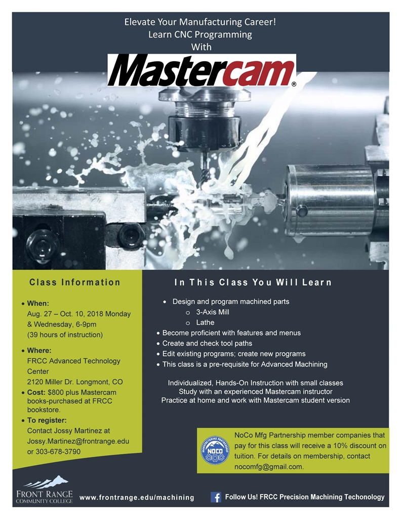 Elevate your Manufacturing Career with Mastercam - CAMA